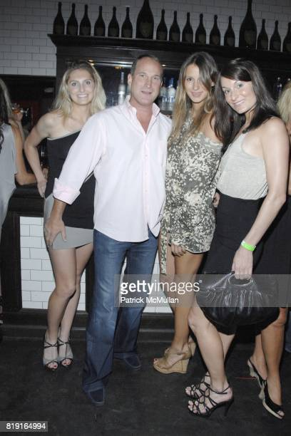 Rebecca Remington, Josh Guberman, Marija Skara and Mia Shaw attend Nic Roldan, Shamin Abas and Tracy Mourning Host Hamptons Social Series Dinner For...