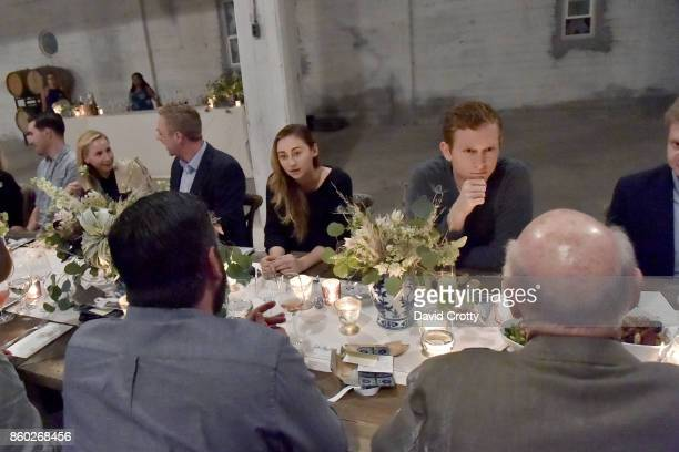 Rebecca Revel and Joseph O Tobin III attend Hearst Castle Preservation Foundation Associate Trustees' Dinner at Julia Morgan Warehouse on September...