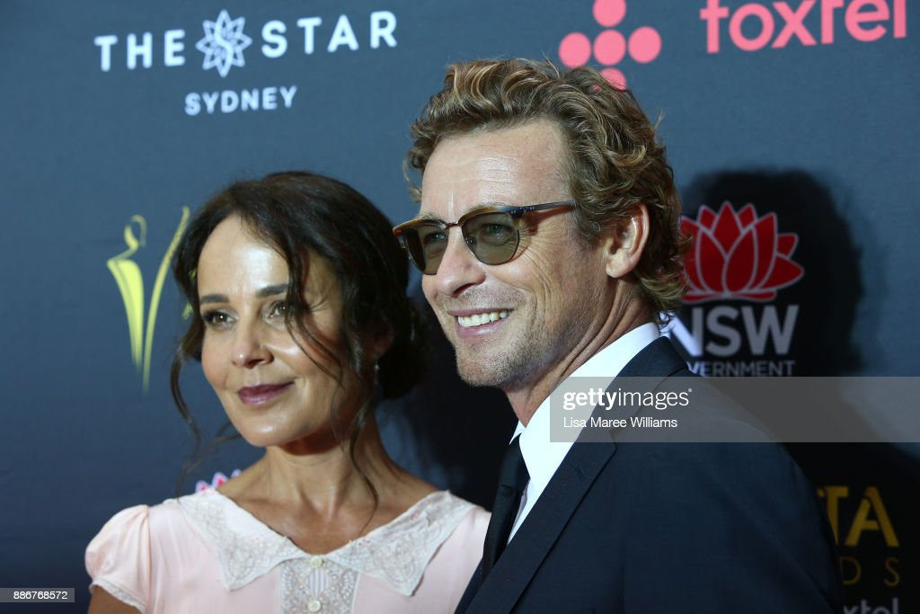 Rebecca Rigg and Simon Baker attend the 7th AACTA Awards