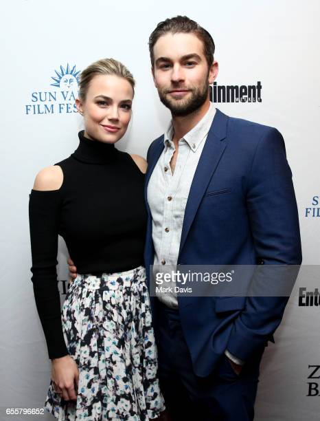 Rebecca Rittenhouse and actor Chace Crawford attend the 2017 Sun Valley Film Festival 'Vision Award Dinner' held on March 18 2017 in Sun Valley Idaho