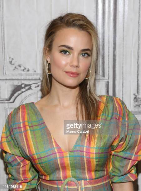 Rebecca Rittenhouse attends Build Series to discuss her role in the film Four Weddings and a Funeral at Build Studio on July 29 2019 in New York City
