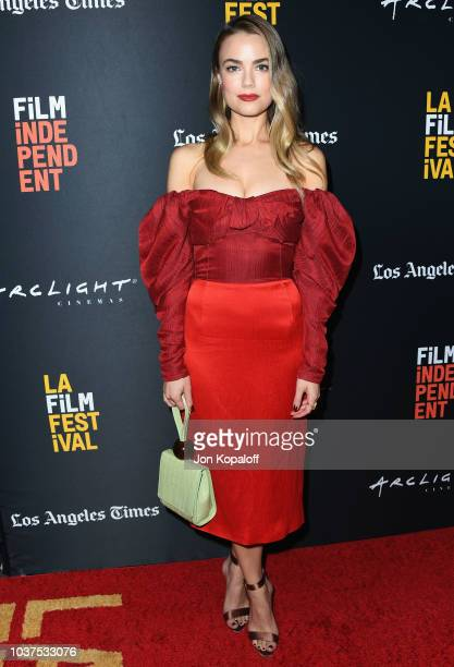 Rebecca Rittenhouse attends the 2018 LA Film Festival Into The Dark 'The Body' World Premiere at Writers Guild Theater on September 21 2018 in...