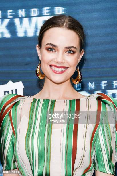 Rebecca Rittenhouse attends the premiere of Blumhouse Productions and Universal Pictures' Unfriended Dark Web at LA LIVE on July 17 2018 in Los...