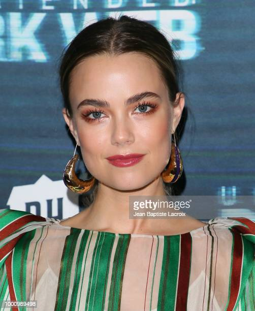 Rebecca Rittenhouse attends the premiere of Blumhouse Productions and Universal Pictures' 'Unfriended Dark Web' at LA LIVE on July 17 2018 in Los...