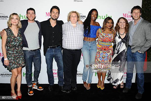 Rebecca Rittenhouse Bryan Greenberg Ed Weeks Fortune Feimster Xosha Roquemore Mindy Kaling Beth Grant and Ike Barinholtz attend the 100th episode...