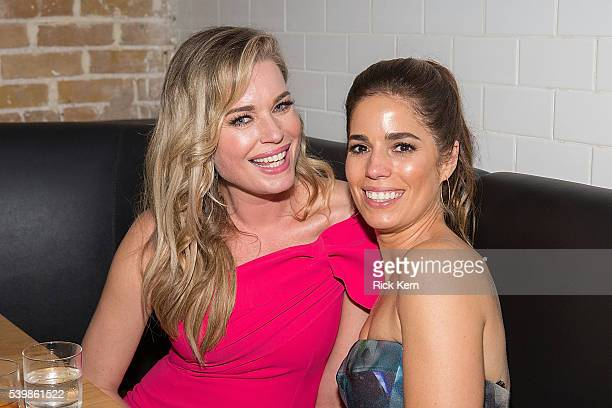 Rebecca Romijn and Ana Ortiz attend the Ugly Betty Reunion After Party presented with Entertainment Weekly sponsored by Toyota at the ATX Television...