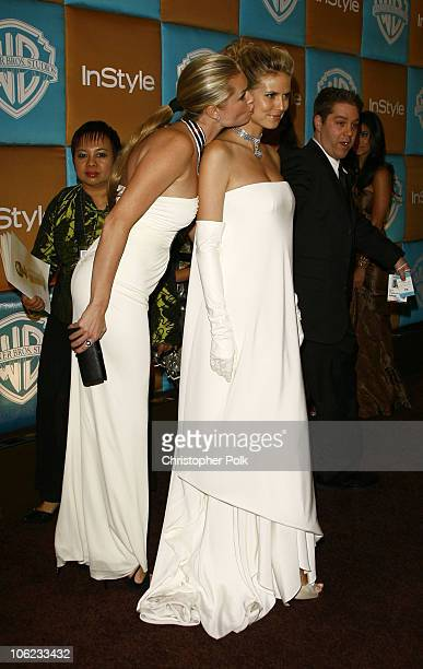 Rebecca Romijn and Heidi Klum during In Style Warner Bros Studios Host 8th Annual Golden Globe Party Arrivals at Oasis Court Beverly Hilton Hotel in...