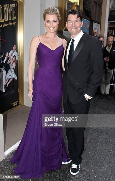 Rebecca Romijn and husband Jerry O'Connell attend The Opening Night for Living On Love on Broadway at The Longacre Theatre on April 20 2015 in New...