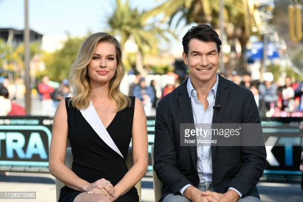 Rebecca Romijn and Jerry O'Connell at Universal Studios Hollywood on February 08, 2019 in Universal City, California.