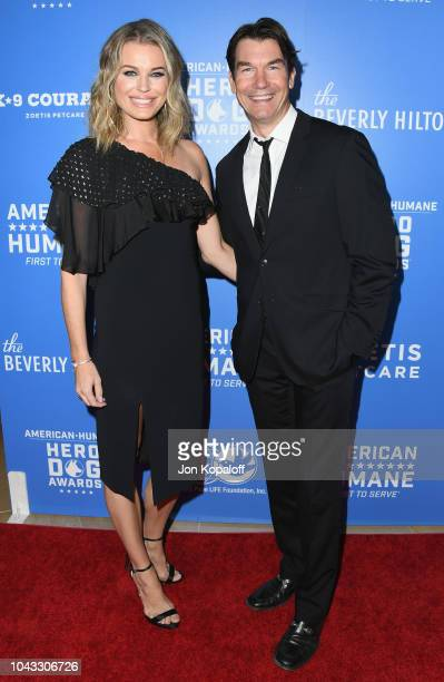 Rebecca Romijn and Jerry O'Connell attend American Humane's 2018 American Humane Hero Dog Awards at The Beverly Hilton Hotel on September 29 2018 in...