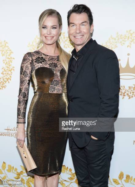 Rebecca Romijn and Jerry O'Connell attend Hallmark Channel And Hallmark Movies And Mysteries 2019 Winter TCA Tour at Tournament House on February 09...