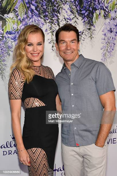 Rebecca Romijn and Jerry O'Connell attend the 2018 Hallmark Channel Summer TCA at Private Residence on July 26 2018 in Beverly Hills California