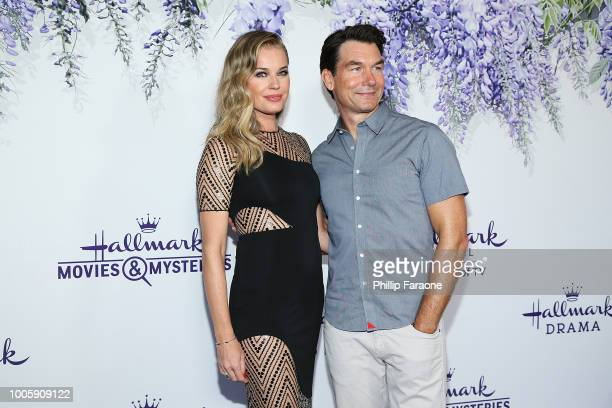 Rebecca Romijn and Jerry O'Connell attend the 2018 Hallmark Channel Summer TCA at a private residence on July 26 2018 in Beverly Hills California