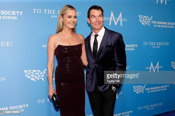 Rebecca Romijn and Jerry O'Connell attend The Humane Society Of The United States To The Rescue New York Gala at Cipriani 42nd Street on November 15...