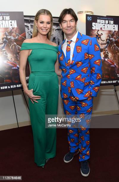 Rebecca Romijn and Jerry O'Connell attend the Reign Of The Supermen New York Premiere at The Directors Guild of America Theater on January 28 2019 in...