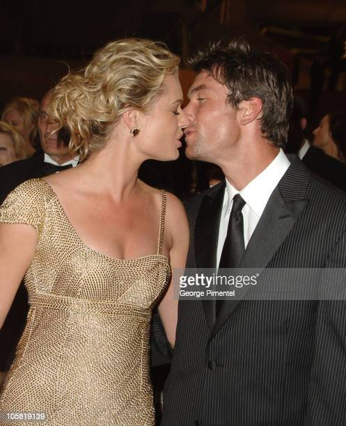Rebecca Romijn and Jerry O'Connell during 2006 Cannes Film Festival 'XMen 3 The Last Stand' Premiere Departures at Palais des Festival in Cannes...