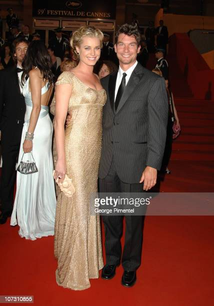 Rebecca Romijn and Jerry O'Connell during 2006 Cannes Film Festival XMen 3 The Last Stand Premiere Departures at Palais des Festival in Cannes France