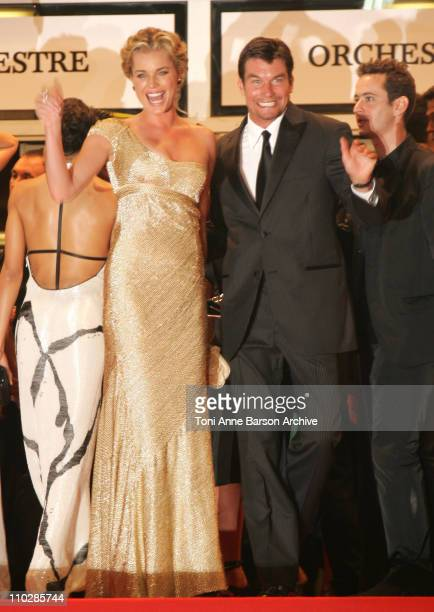 Rebecca Romijn and Jerry O'Connell during 2006 Cannes Film Festival XMen 3 The Last Stand Premiere at Palais des Festival in Cannes France