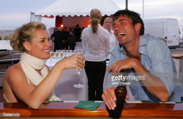 Rebecca Romijn and Jerry O'Connell during 2006 Cannes Film Festival Rebecca Romijn Hosts Dinner with Cast and Friends of XMen The Last Stand at...