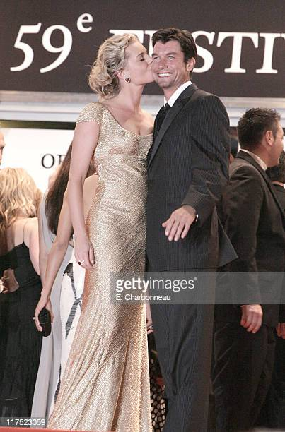 Rebecca Romijn and Jerry O'Connell during 20th Century Fox Premiere of 'XMen The Last Stand' at Palais des Festivals in Cannes France