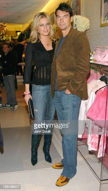 Rebecca Romijn and Jerry O'Connell during Juicy Couture Store Opening at Forum Shops in Las Vegas Nevada United States