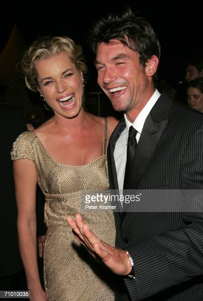 Rebecca Romijn and Jerry O'Connell photographed after the 'XMen 3 The Last Stand' premiere at the Palais des Festivals during the 59th International...