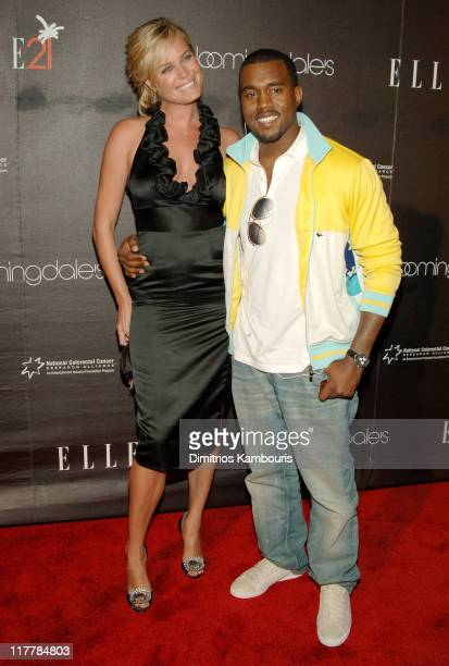 Rebecca Romijn and Kanye West during ELLE Magazine's 21st Birthday VIP Bash Benefiting EIF's National Colorectal Cancer Research Arrivals at...