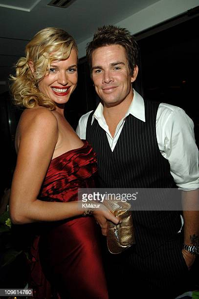 Rebecca Romijn and Mark McGrath during 2005 Fashion Rocks Rainbow Room After Party at Rainbow Room in New York City New York United States