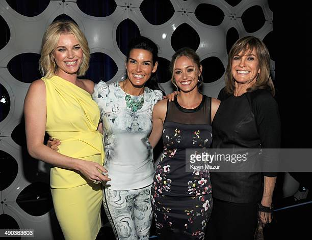 Rebecca Romijn Angie Harmon Elizabeth Mansucci and Linda Gray attend the TBS / TNT Upfront 2014 at The Theater at Madison Square Garden on May 14...
