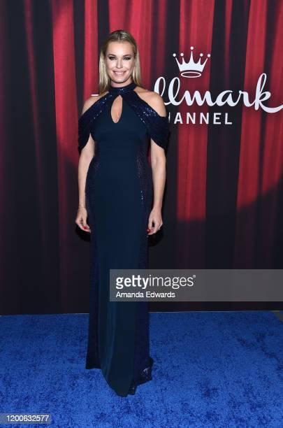 Rebecca Romijn arrives at the 2020 American Rescue Dog Show at Barker Hangar on January 19 2020 in Santa Monica California