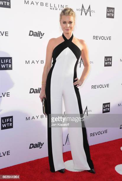 Rebecca Romijn arrives at the Daily Front Row's 3rd Annual Fashion Los Angeles Awards at the Sunset Tower Hotel on April 2 2017 in West Hollywood...