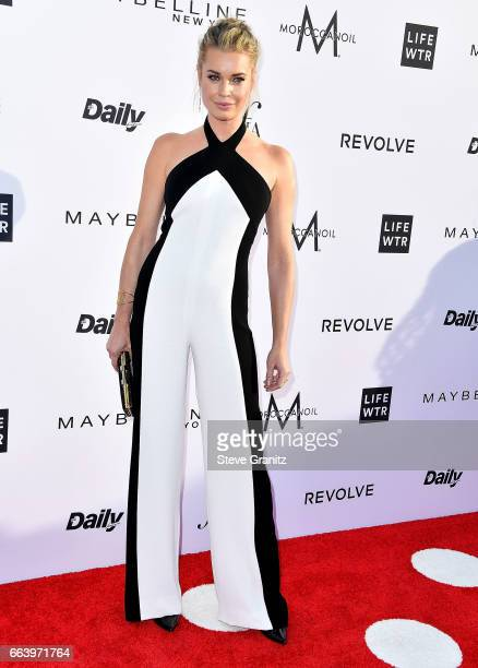 Rebecca Romijn arrives at the Daily Front Row's 3rd Annual Fashion Los Angeles Awards on April 2 2017 in West Hollywood California