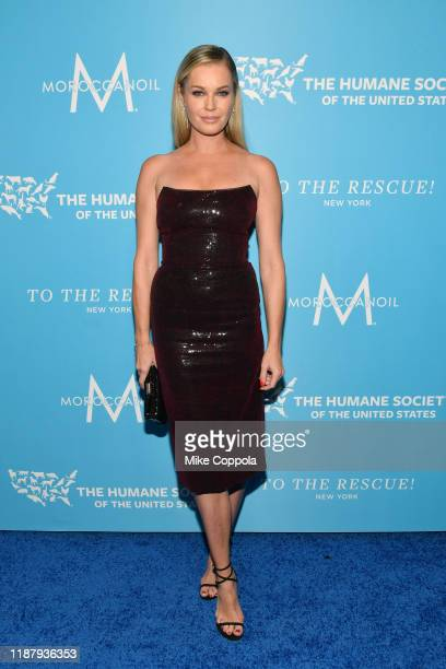 Rebecca Romijn arrives to the Humane Society Of The United States To The Rescue New York Gala 2019 at Cipriani 42nd Street on November 15 2019 in New...
