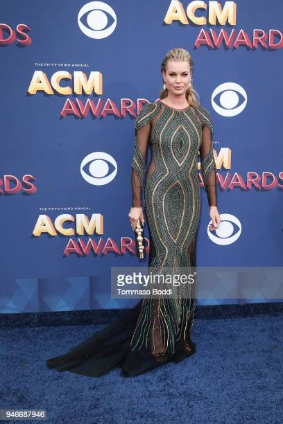 Rebecca Romijn attends the 53rd Academy of Country Music Awards at MGM Grand Garden Arena on April 15 2018 in Las Vegas Nevada