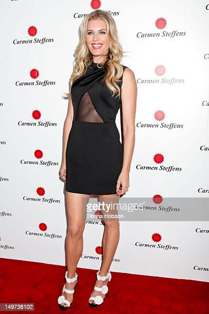 Rebecca Romijn attends the Carmen Steffens U.S. West coast flagship store opening at Hollywood & Highland Center on August 2, 2012 in Hollywood,...