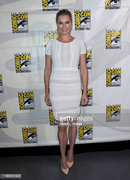 Rebecca Romijn attends the Enter The Star Trek Universe Panel during 2019 ComicCon International at San Diego Convention Center on July 20 2019 in...