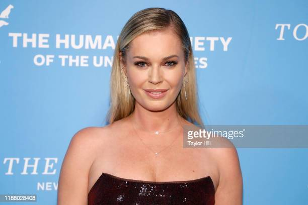 Rebecca Romijn attends The Humane Society Of The United States To The Rescue New York Gala at Cipriani 42nd Street on November 15 2019 in New York...