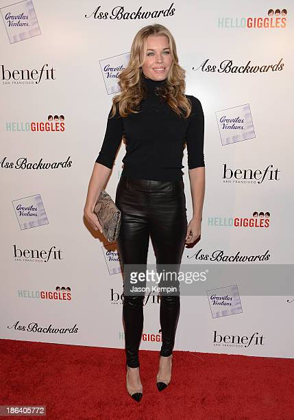 Rebecca Romijn attends the premiere of Gravitas Ventures' Ass Backwards at the Vista Theatre on October 30 2013 in Los Angeles California