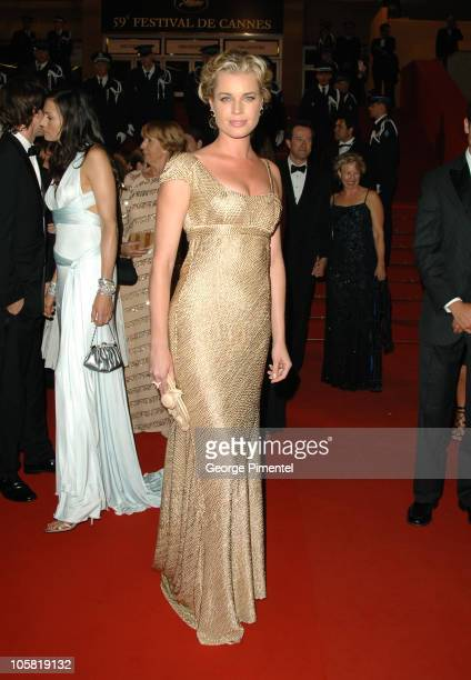 Rebecca Romijn during 2006 Cannes Film Festival XMen 3 The Last Stand Premiere Departures at Palais des Festival in Cannes France