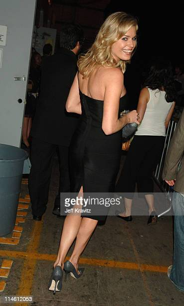 Rebecca Romijn during 2006 MTV Movie Awards Backstage and Audience at Sony Studios in Culver City California United States