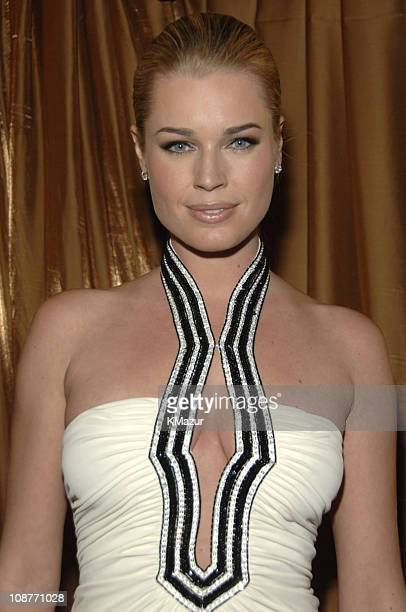 Rebecca Romijn during In Style and Warner Bros 2007 Golden Globe After Party Inside at Beverly Hilton Hotel in Beverly Hills California United States