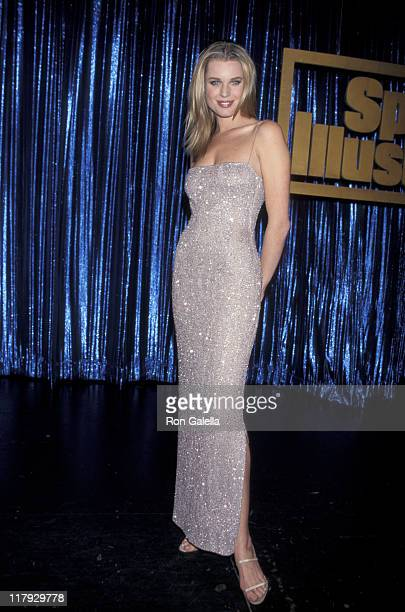 Rebecca Romijn during Party To Celebrate The 1999 Sports Illustrated Swimsuit Issue at The Supper Club in New York City New York United States