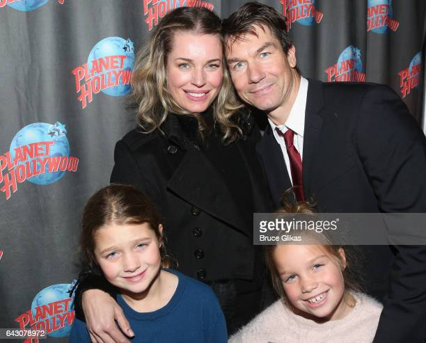 Rebecca Romijn husband Jerry O'Connell Dolly Rebecca Rose O'Connell and Charlie Tamara Tulip O'Connell pose at the after party for Manhattan Concert...