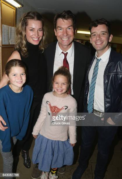 Rebecca Romijn husband Jerry O'Connell Dolly Rebecca Rose O'Connell and Charlie Tamara Tulip O'Connell and Michael Urie pose at the after party for...