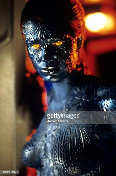 Rebecca Romijn in a scene from the film 'X-Men', 2000.