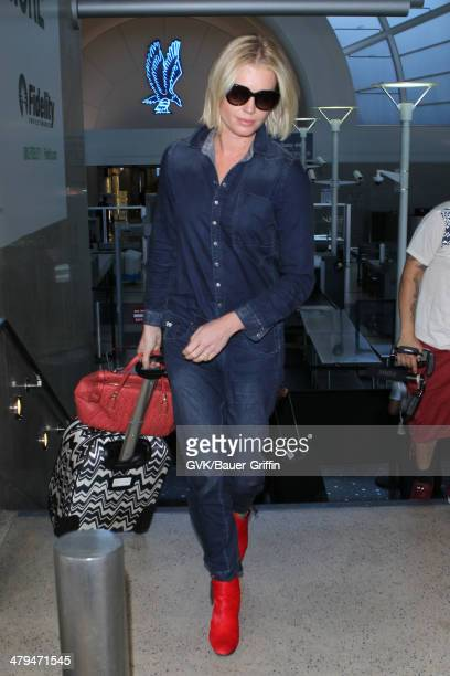 Rebecca Romijn is seen at LAX airport on March 18 2014 in Los Angeles California