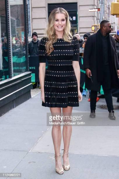 Rebecca Romijn is seen on February 14 2019 in New York City