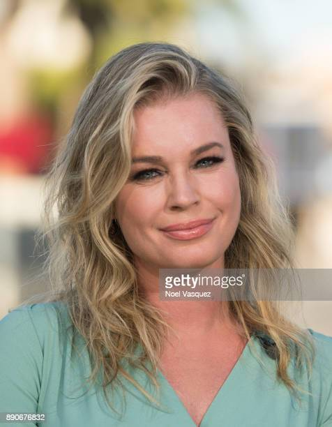 Rebecca Romijn visits Extra at Universal Studios Hollywood on December 11 2017 in Universal City California