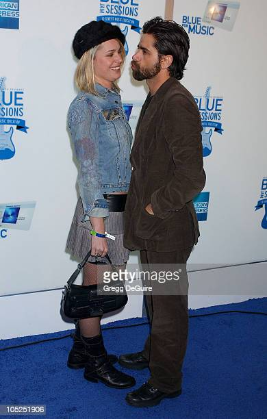 Rebecca RomijnStamos and John Stamos during 'Blue Jam Sessions' Kicks Off at the House of Blues With Elvis Costello The Imposters at House Of Blues...