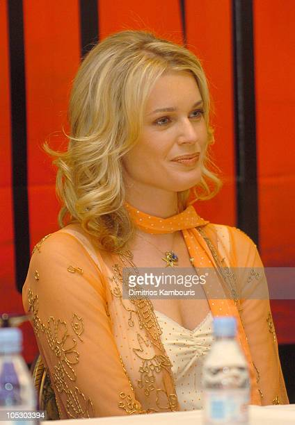 """Rebecca Romijn-Stamos during 2004 ShoWest - """"The Punisher"""" Press Conference at Paris Hotel in Las Vegas, Nevada, United States."""